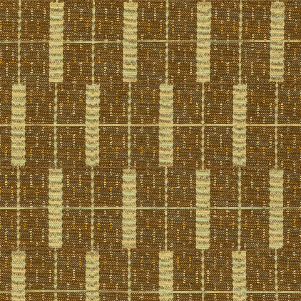 Building Blocks Brown Brown Green Teal Green Stripe Woven Flat Upholstery Fabric