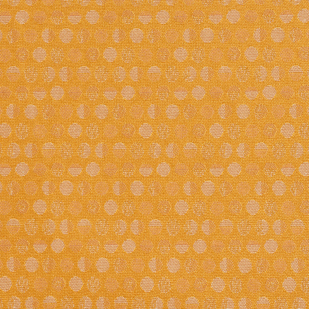 Nugget Gold Abstract Dot Damask Upholstery Fabric