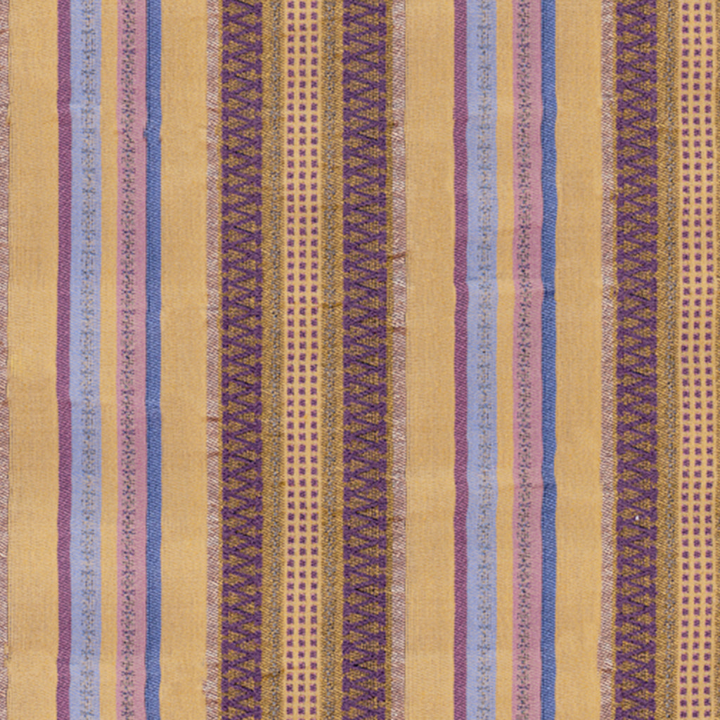Carnivale Conga Brown Brown Stripe Woven Textured Upholstery Fabric