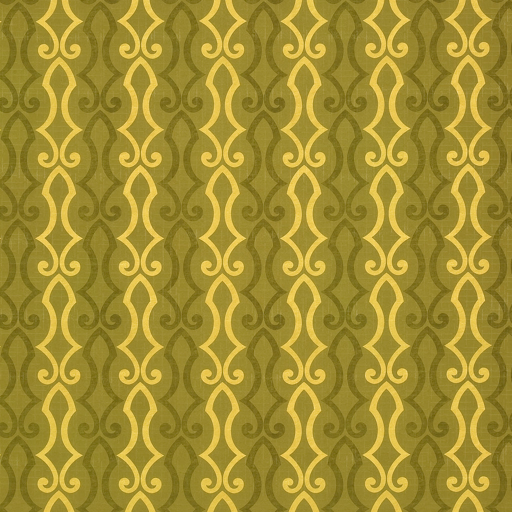 Cascade Arbor Green Green Teal Green Hunter forest Curvilinear Upholstery Fabric