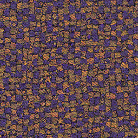 Contemplate Subtle Purple Yellow Mauve true Purple Gold Abstra Upholstery Fabric