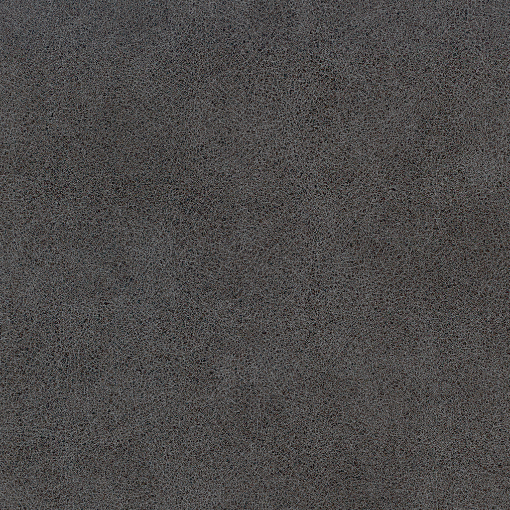 Core Earth Gray Black Ebony Solid Faux Leather Upholstery Fabric