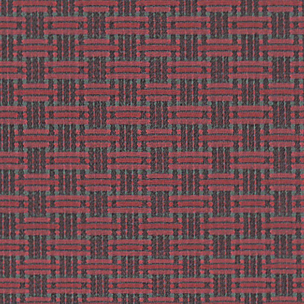Equator Rain Forest Red Red True Red True Red Geometric Woven  Upholstery Fabric