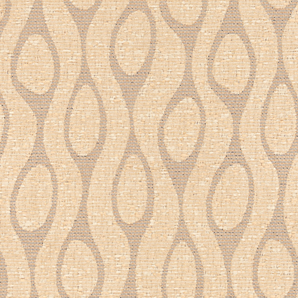 Finn Natural Brown Tan Beige Curvilinear Woven Flat Upholstery Fabric