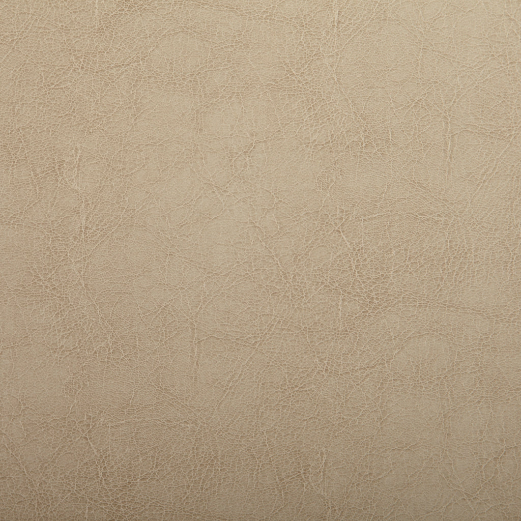 Sand Beige Leather Grain Plain Solid Vinyl Upholstery Fabric