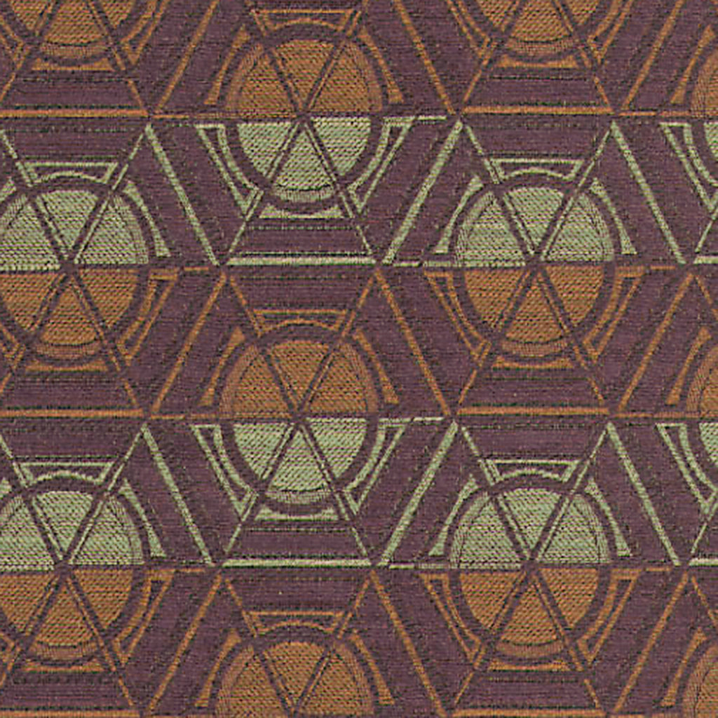 Getty Wealth Purple Orange Mauve true Purple Geometric Woven F Upholstery Fabric