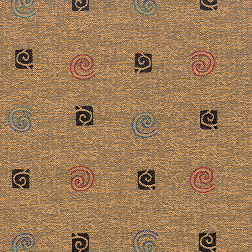 Good Vibrations Gto Brown Gray Tan Beige Black Ebony Curviline Upholstery Fabric