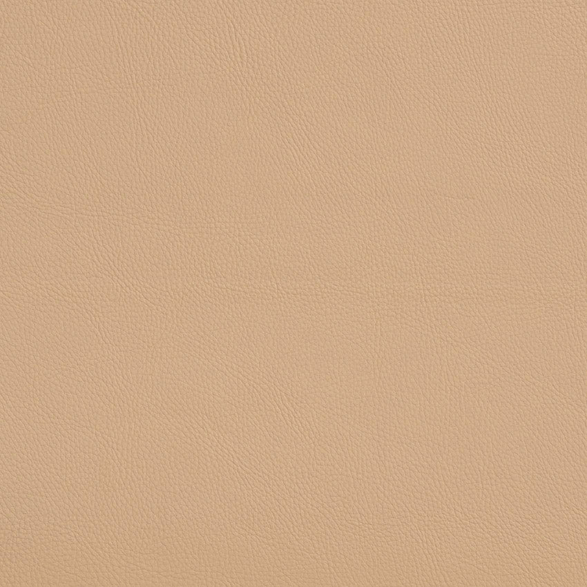 Magnolia Beige Leather Grain Plain Solid Vinyl  Upholstery Fabric
