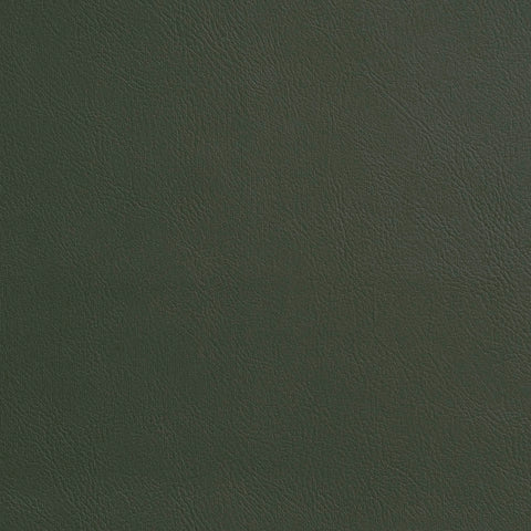 Moss Green Leather Grain Plain Solid Vinyl  Upholstery Fabric