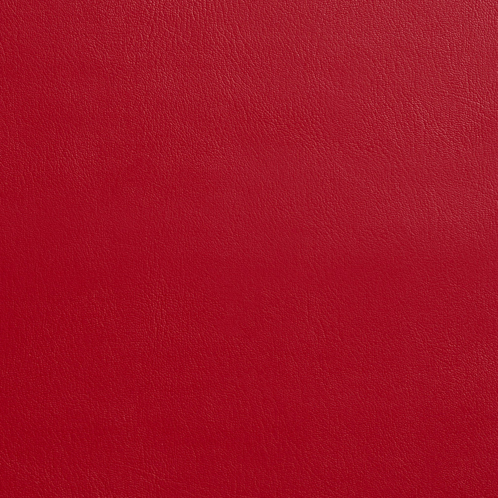 Red  Leather Grain Plain Solid Vinyl  Upholstery Fabric