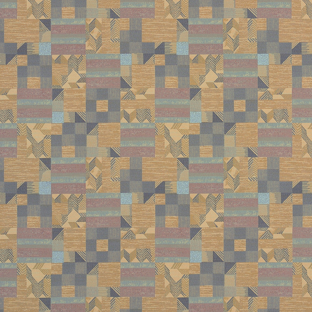 Gunta Shuttle Brown Purple Tan Beige Pastel lavender Abstract  Upholstery Fabric