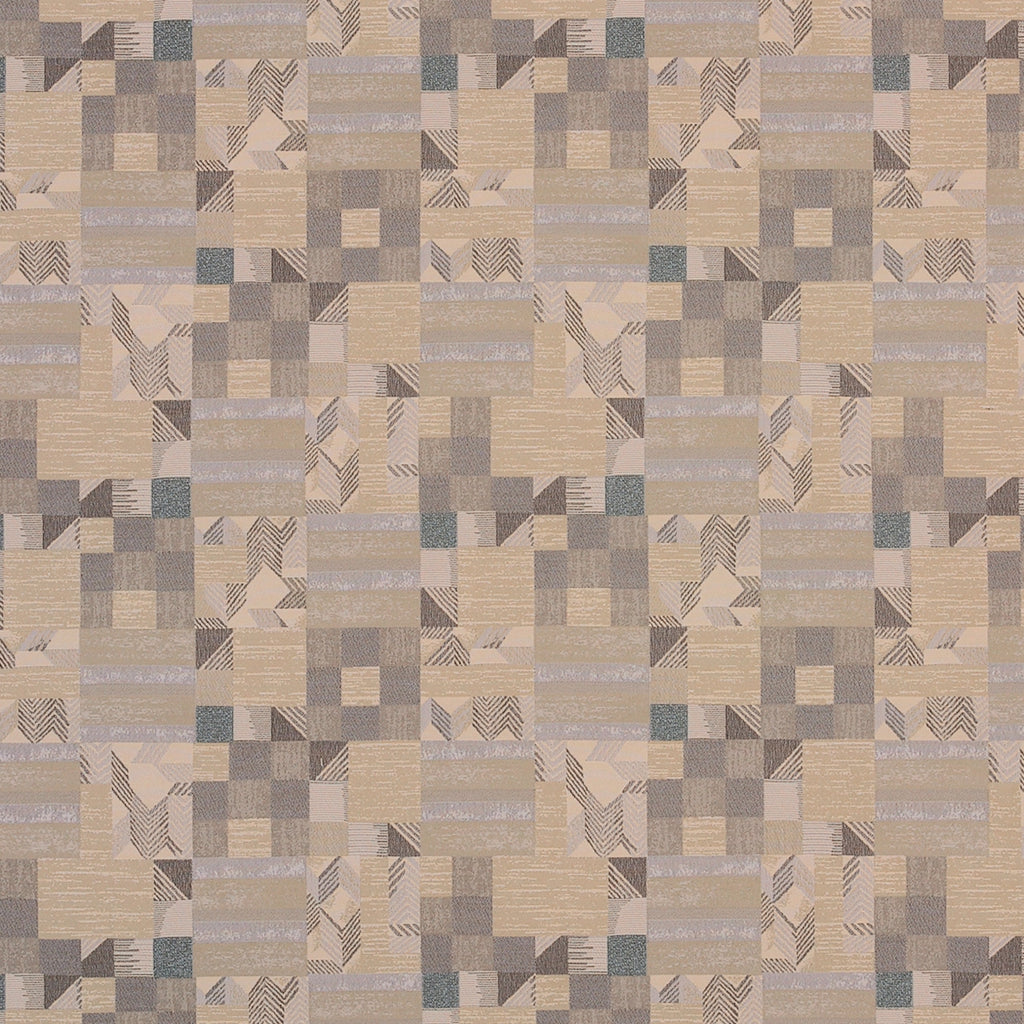 Gunta Studio Brown Gray Tan Beige Gray Charcoal Abstract Woven Upholstery Fabric