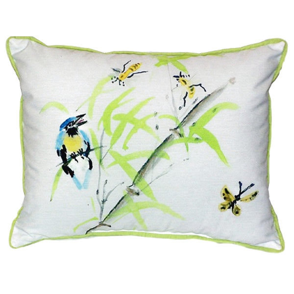 Birds & Bees II Large Indoor or Outdoor Pillow 16x20
