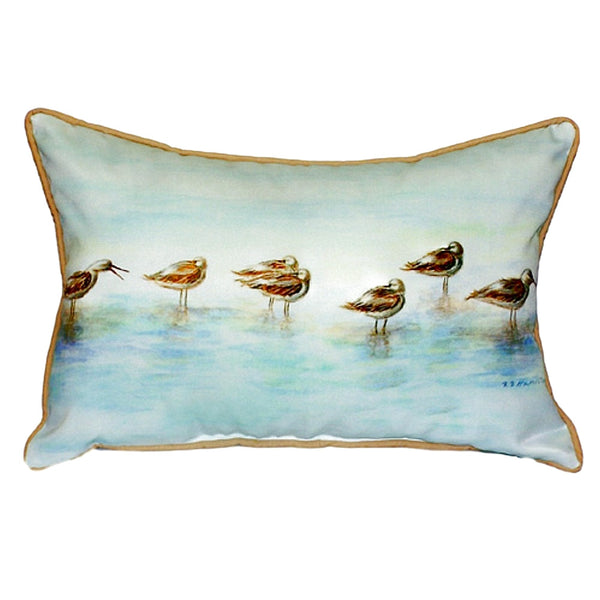 Avocets Large Indoor or Outdoor Pillow 16x20