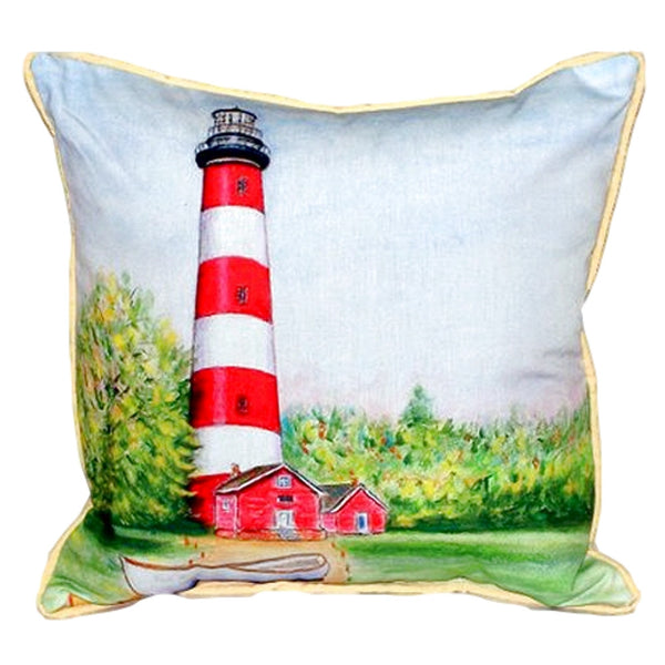 Chincoteague Lighthouse VA Large Indoor or Outdoor Pillow