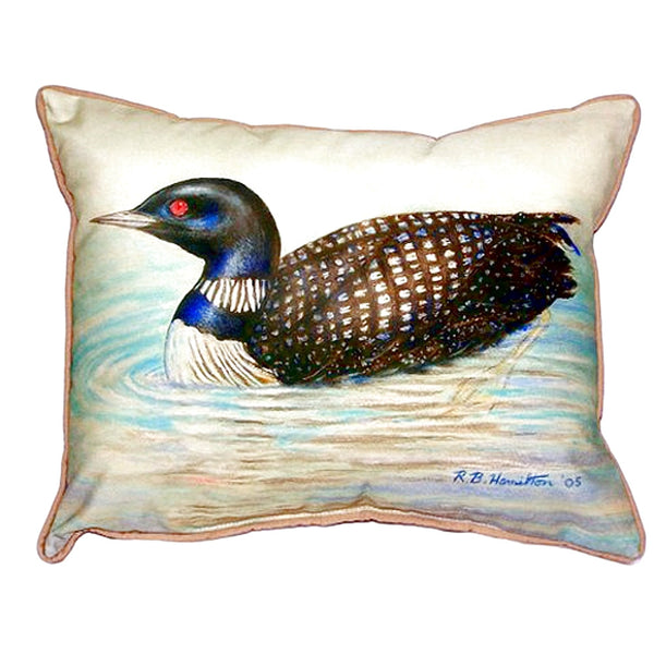 Loon Large Indoor or Outdoor Pillow 15x22