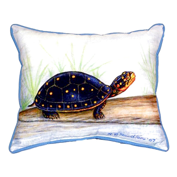 Spotted Turtle Large Indoor or Outdoor Pillow 16x20