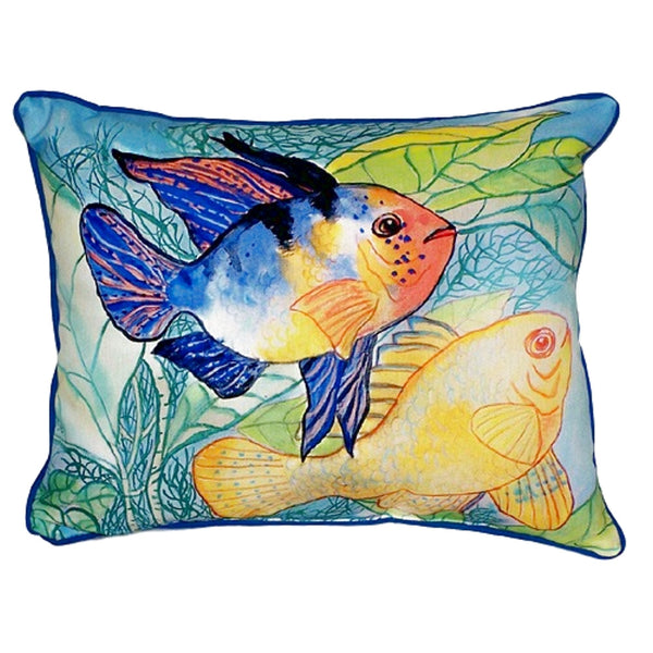 Two Fish Large Indoor or Outdoor Pillow