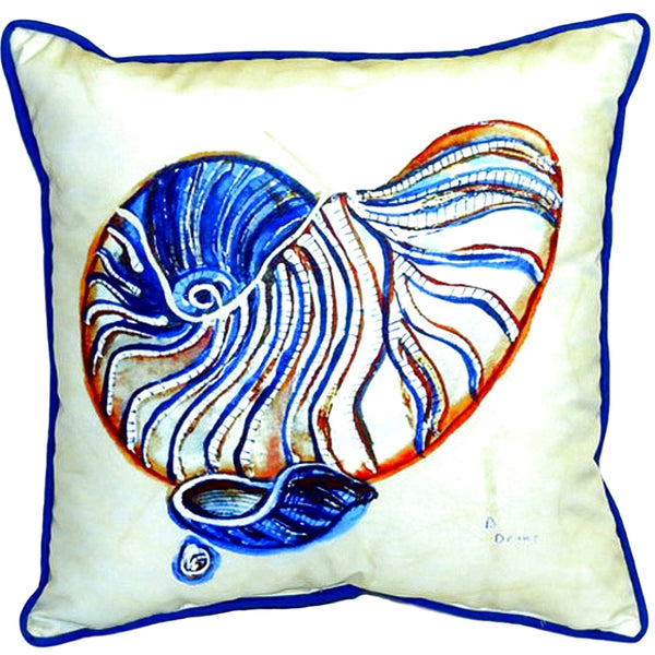 Nautilus Large Indoor or Outdoor Pillow  18x18