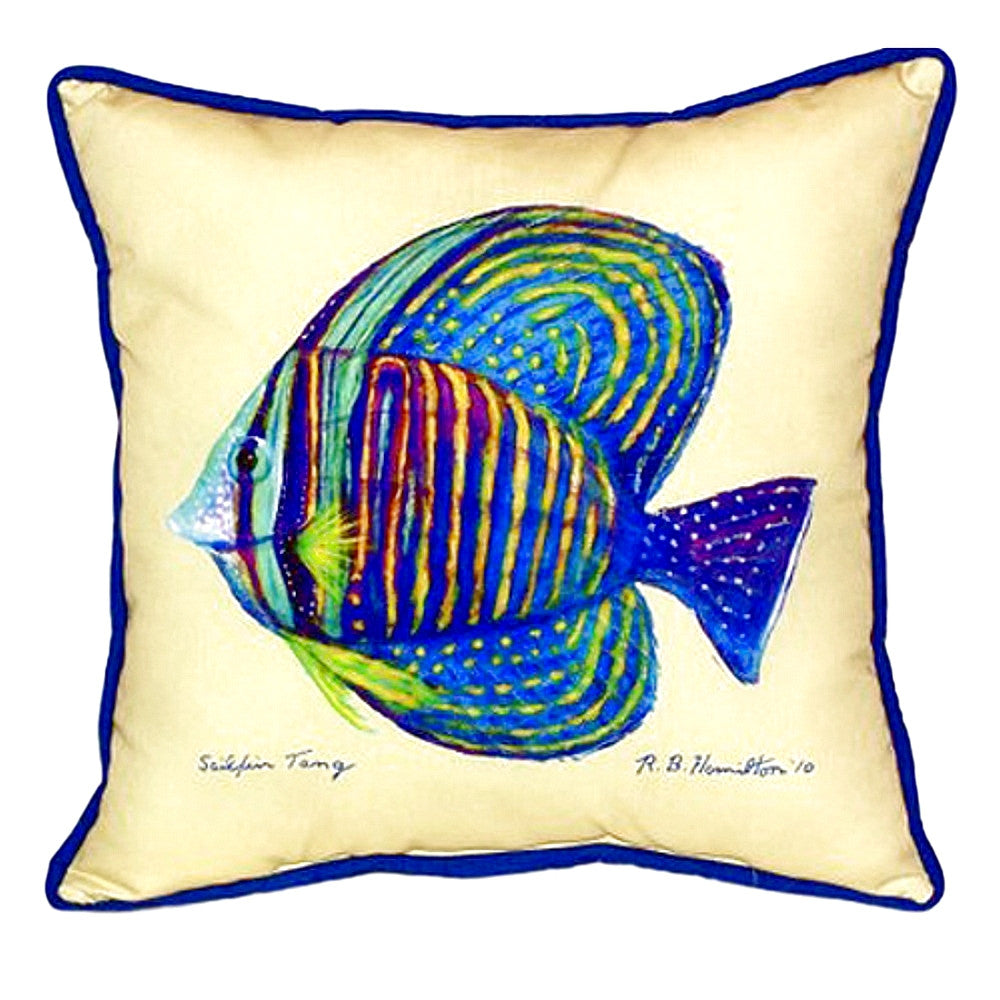 Sailfin Tang - Yellow Indoor or Outdoor Pillow 18x18