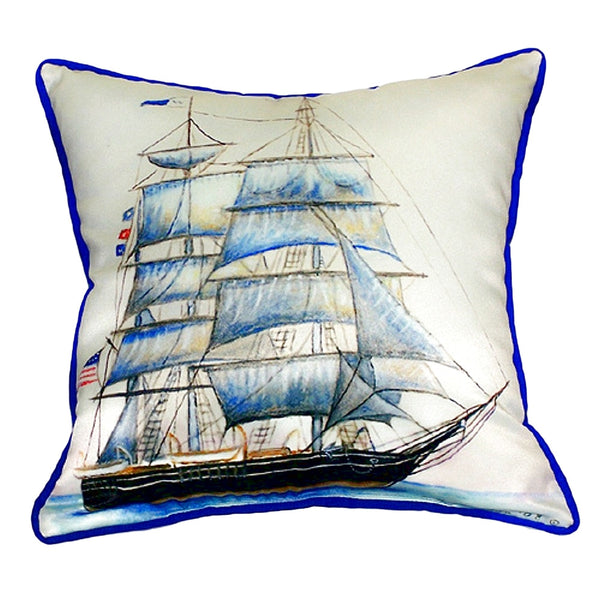 Whaling Ship Large Indoor or Outdoor Pillow 18x18