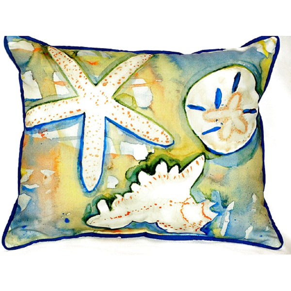 Beach Treasures Large Indoor or Outdoor Pillow 16x20