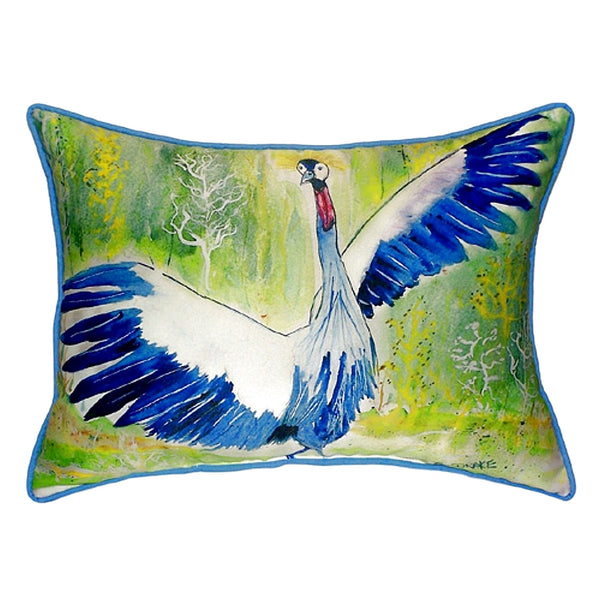 Dancing Crane Large Indoor or Outdoor Pillow 15x22