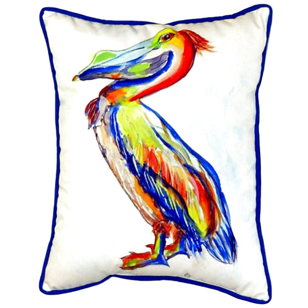Sylvester Pelican Large Indoor or Outdoor Pillow 16x20
