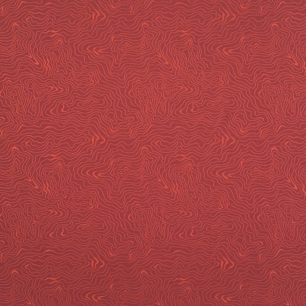 Hazel Pinot Noir Red Red Burgundy Burgundy Curvilinear Woven F Upholstery Fabric