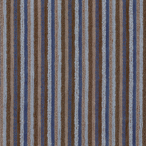 Henry Blue Bird Blue Brown True Blue Chocolate Stripe Woven Te Upholstery Fabric