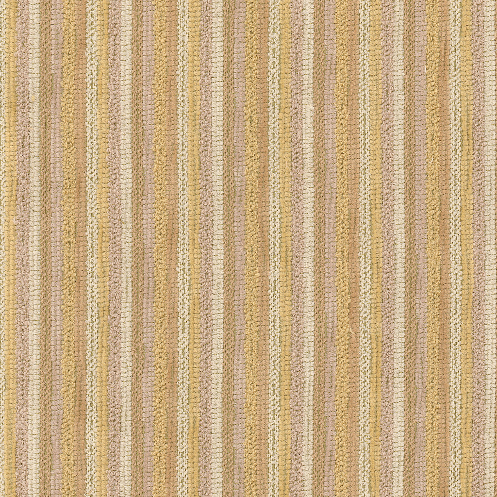 Henry Camel Yellow Yellow Gold Pastel Stripe Woven Textured Upholstery Fabric