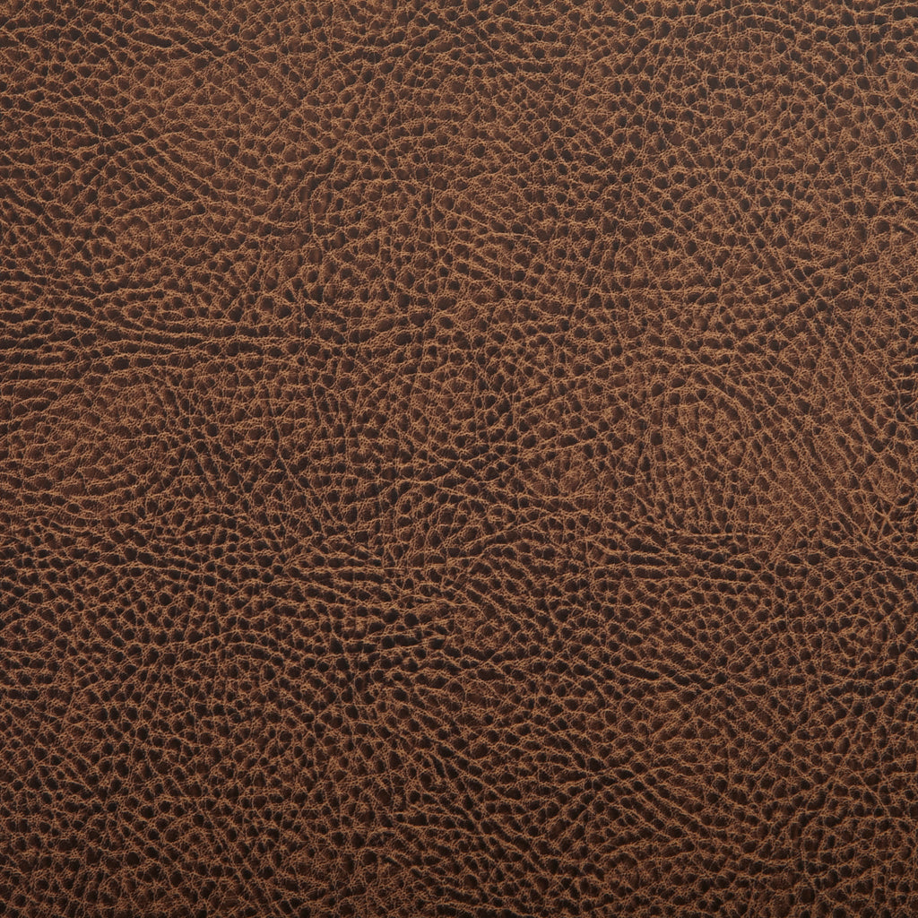 Coffee Brown Leather Grain Plain Solid Vinyl Upholstery Fabric