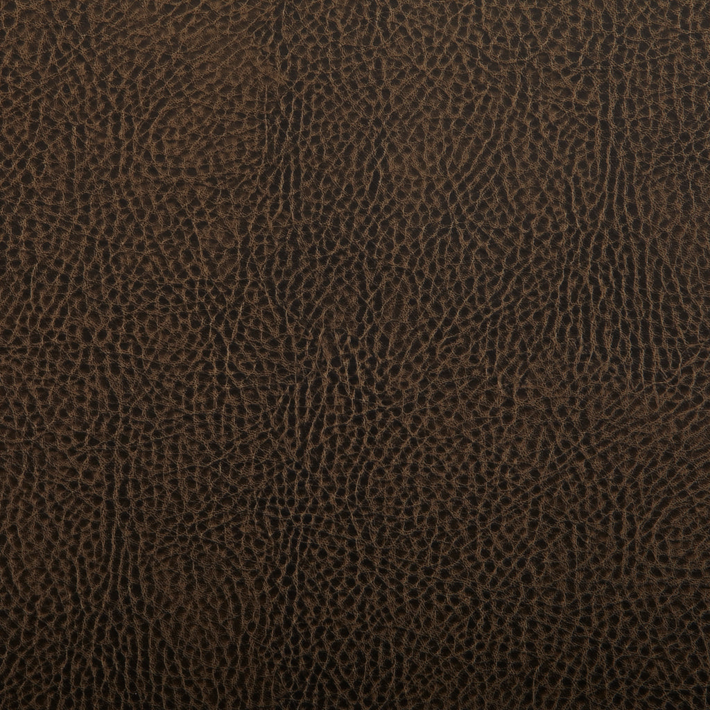 Toro Brown Leather Grain Plain Solid Vinyl Upholstery Fabric