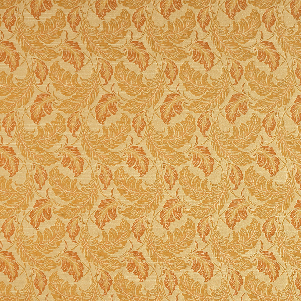 In Dreams Arrival Yellow Orange Gold Leaves Floral Woven Flat Upholstery Fabric