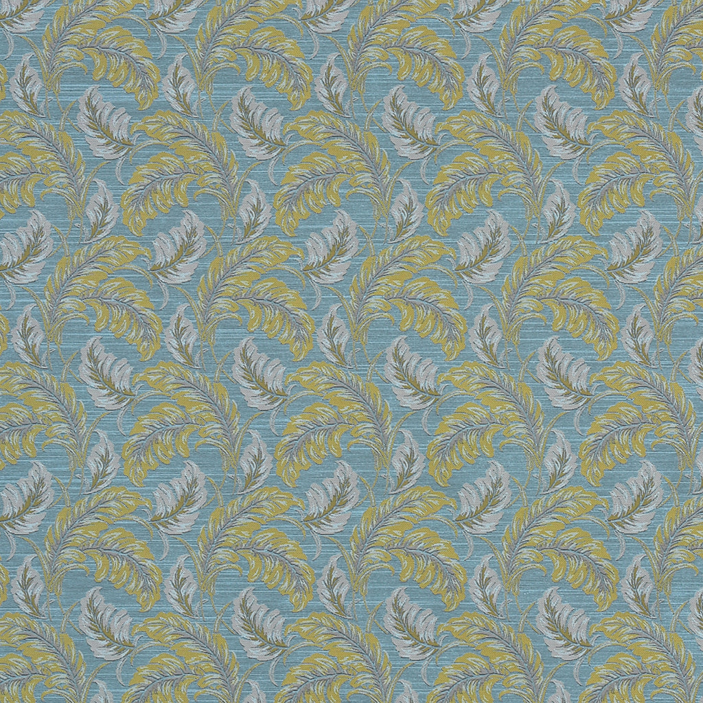 In Dreams Room Key Blue Blue True Blue True Blue Leaves Floral Upholstery Fabric