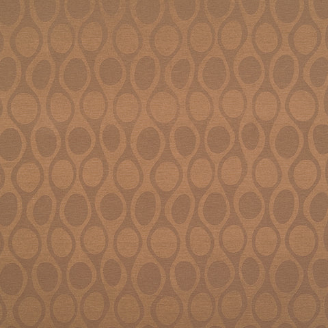 Kenga Chestnut Brown Brown Curvilinear Woven Flat Upholstery Fabric
