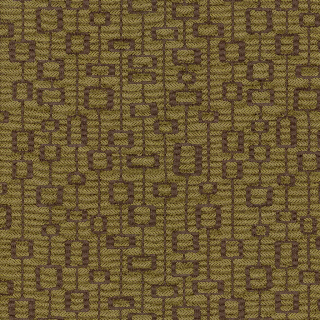 Leo Urchin Green Brown Teal Green Chocolate Geometric Woven Fl Upholstery Fabric