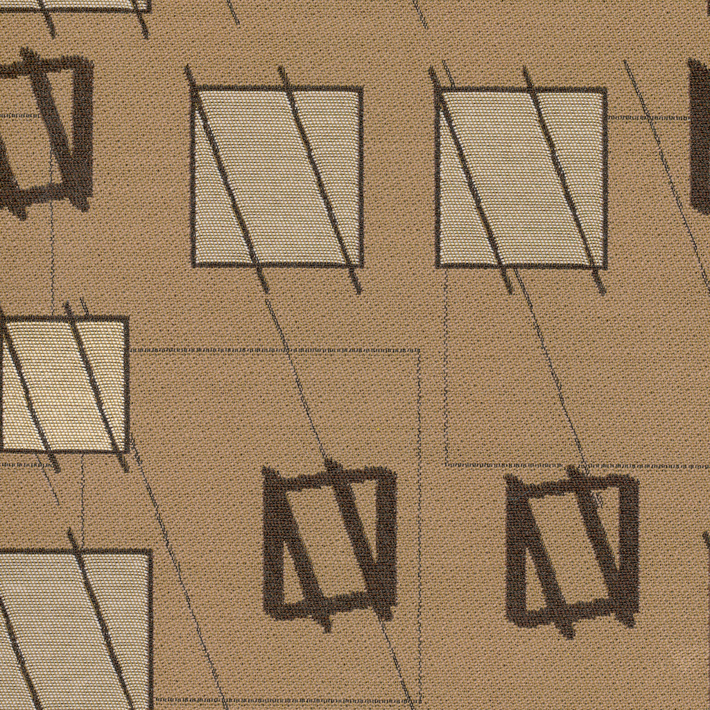 Little Wing Brooklyn Brown Gray Black Ebony Geometric Woven Fl Upholstery Fabric