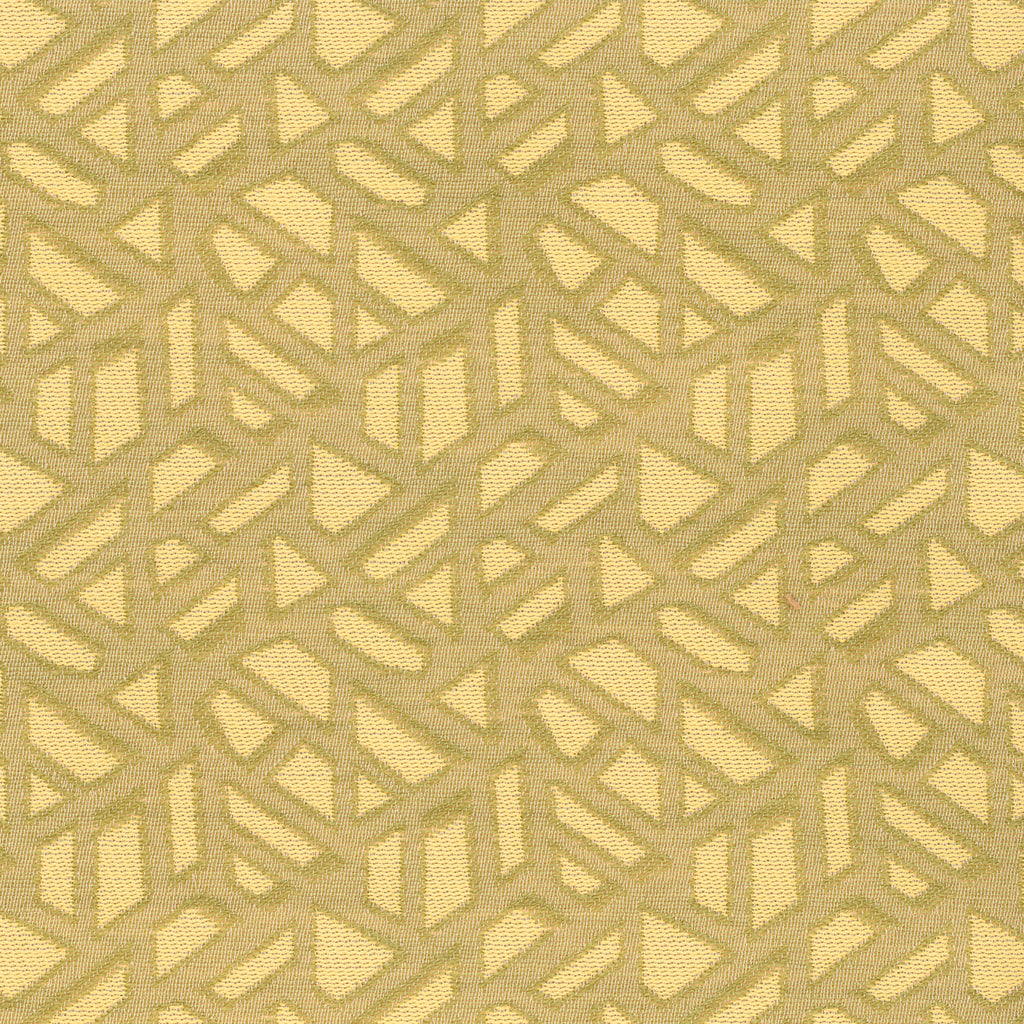 Make Tracks Chartreuse Yellow Geometric Woven Flat Upholstery Fabric