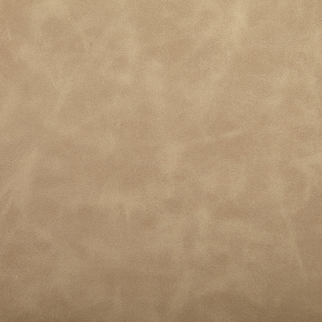 Sand Beige Leather Grain Plain Solid Polyurethane Vinyl Upholstery Fabric