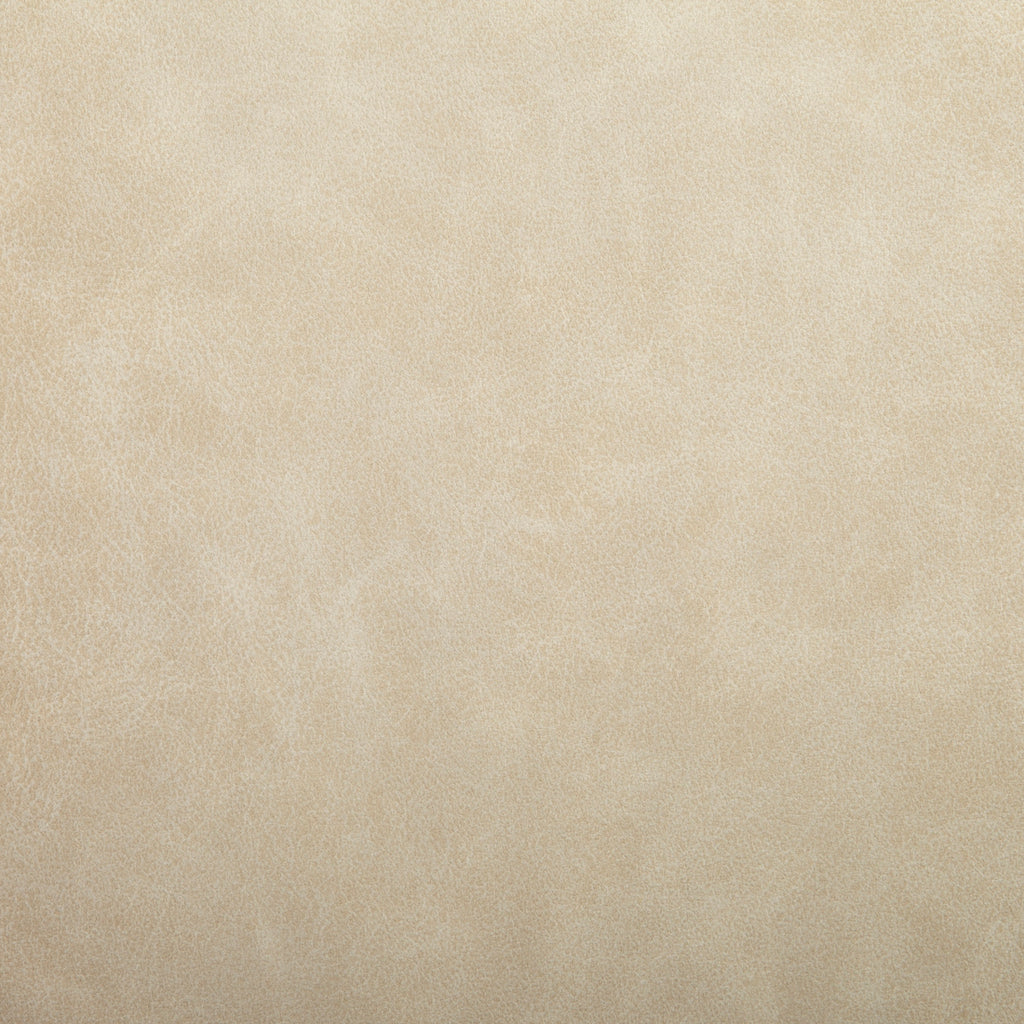 Natural Beige Leather Grain Plain Solid Polyurethane Vinyl Upholstery Fabric