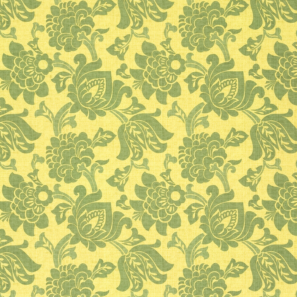 Mezzanine Arbor Yellow Green Gold Teal Green Leaves Floral Wov Upholstery Fabric