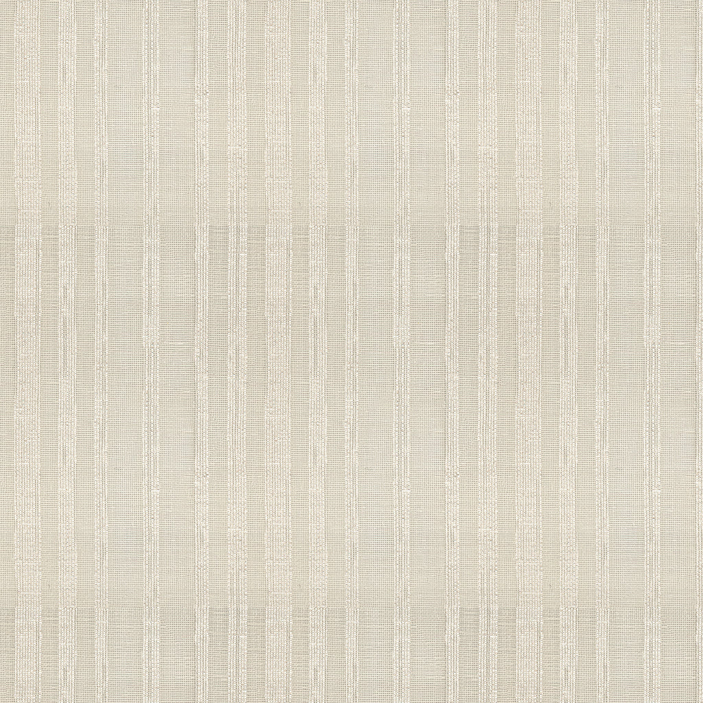 Naturale Cream Gray White Silver Stripe Woven Flat Upholstery Fabric