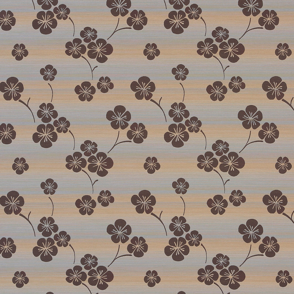 Nili Chocoholic Brown Yellow Tan Beige Gold Leaves Floral Wove Upholstery Fabric