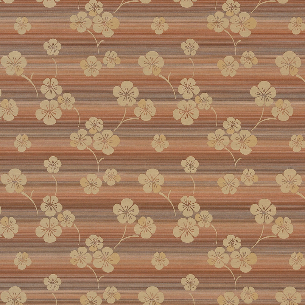 Nili Glamour Girl Brown Yellow Gold Leaves Floral Woven Flat Upholstery Fabric