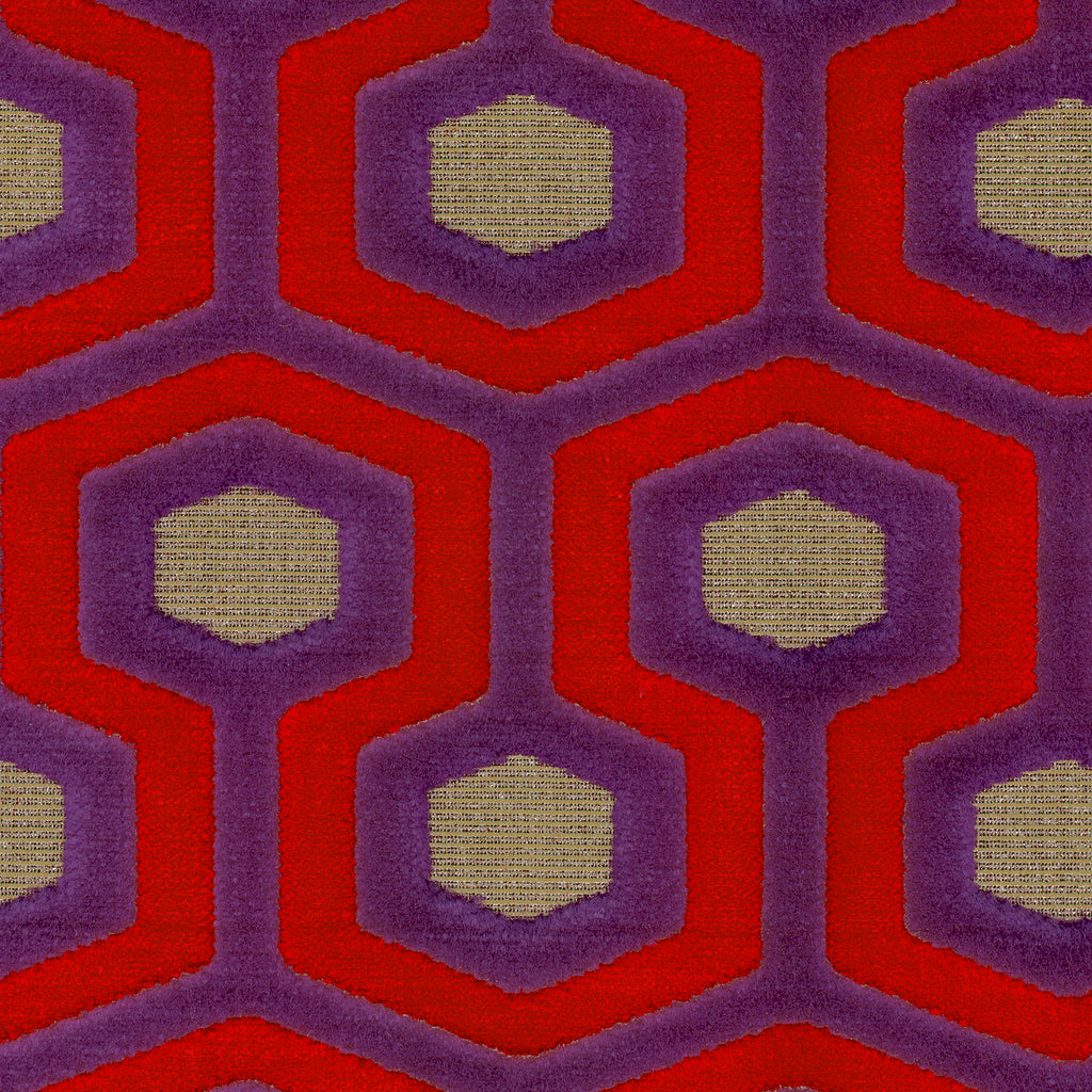 Paramount Royal Purple Brown Mauve true Purple Tan Beige Geome Upholstery Fabric