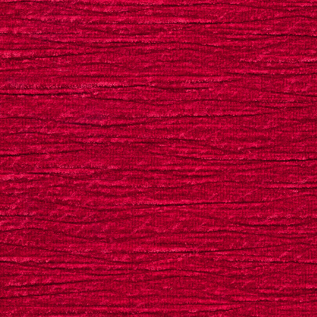 Pleated Corner Red True Red Solid Woven Textured Upholstery Fabric