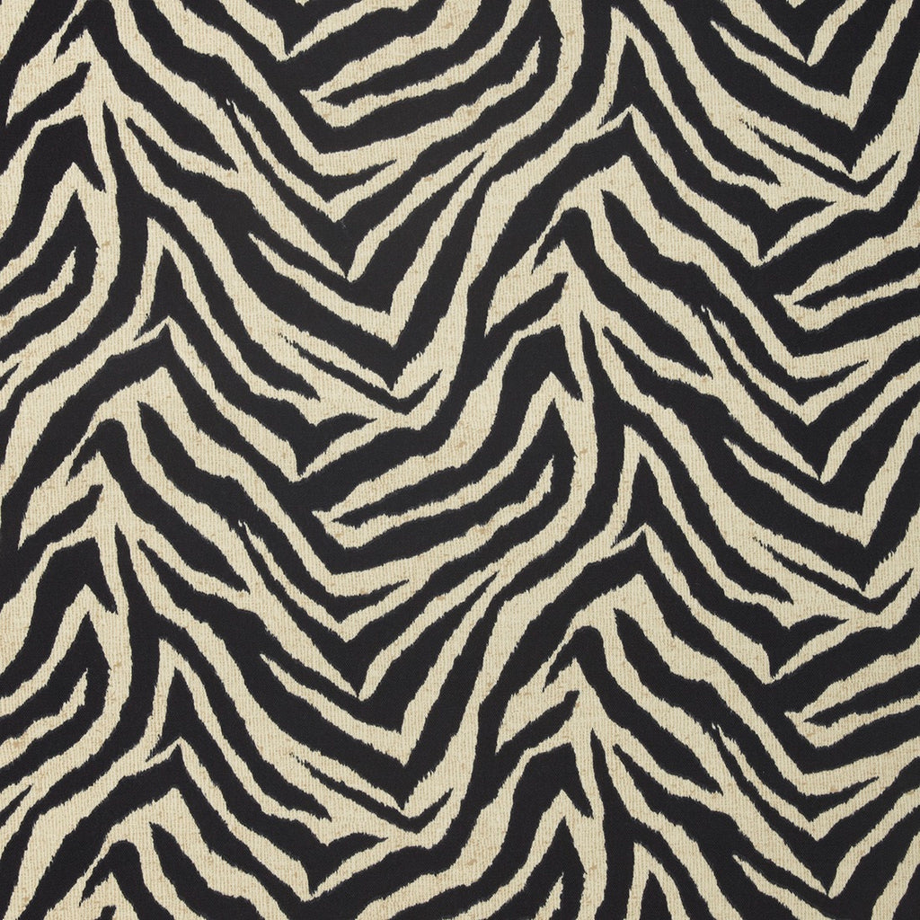 Wild Thing Black White Natural Animal Print Outdoor Upholstery Fabric