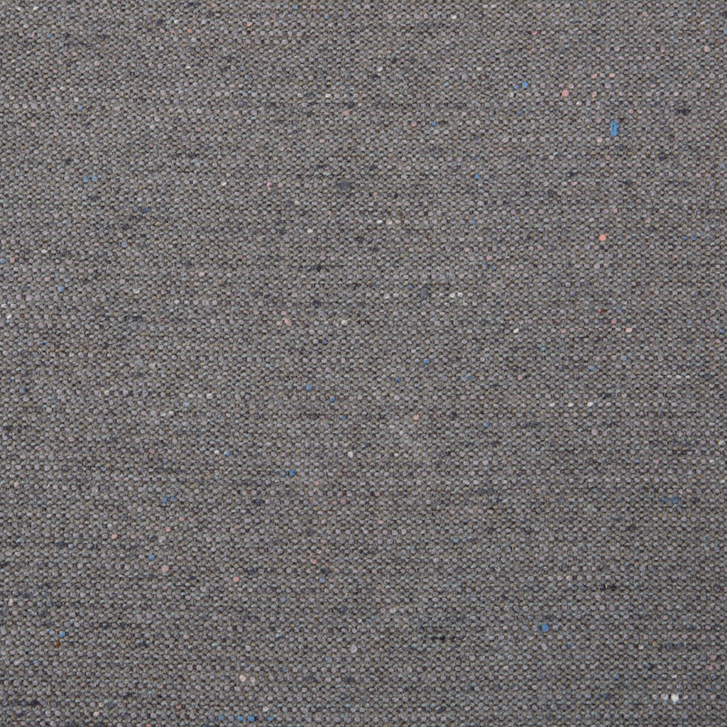 Charcoal Wool Gray Solid Woven Wool Upholstery Fabric