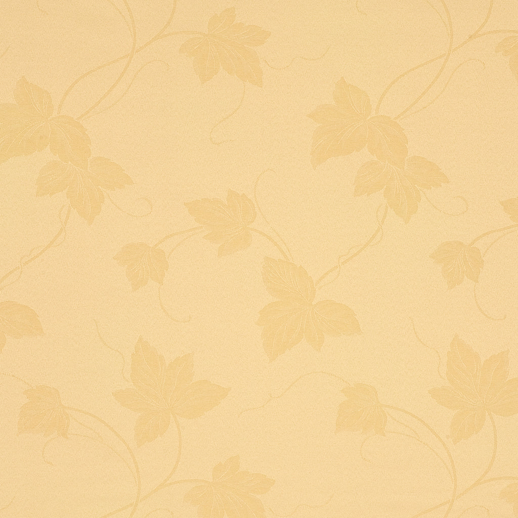 Root Garden Cream Yellow Pastel Leaves Floral Woven Flat Upholstery Fabric